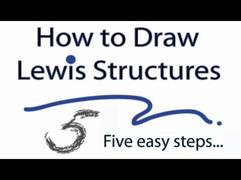 A video tutorial for how to draw Lewis Structures in five steps. The video covers the basic Lewis structures you'll see in an introductory chemistry class. T...