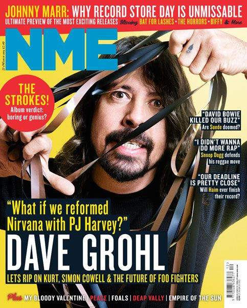 NME Magazine cover, Dave Grohl, March 23rd 2013