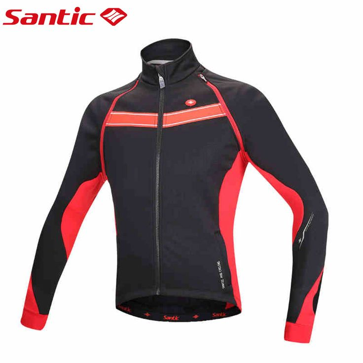 Santic Cycling Winter Jacket Long Sleeve Fleece Men chaleco ciclismo windproof Cheap Cycling Jersey Thermal Fleece M5C01060R #Affiliate