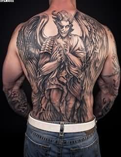 Full Back Warrior Angel Tattoo For Men   Tattoobite.com