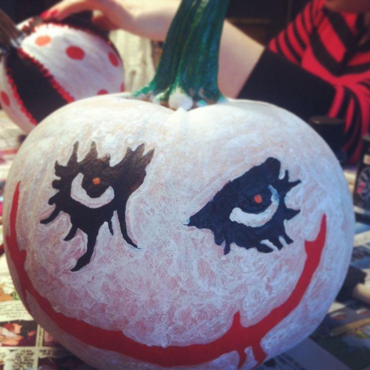 Painted my pumpkin as the Joker for Halloween?