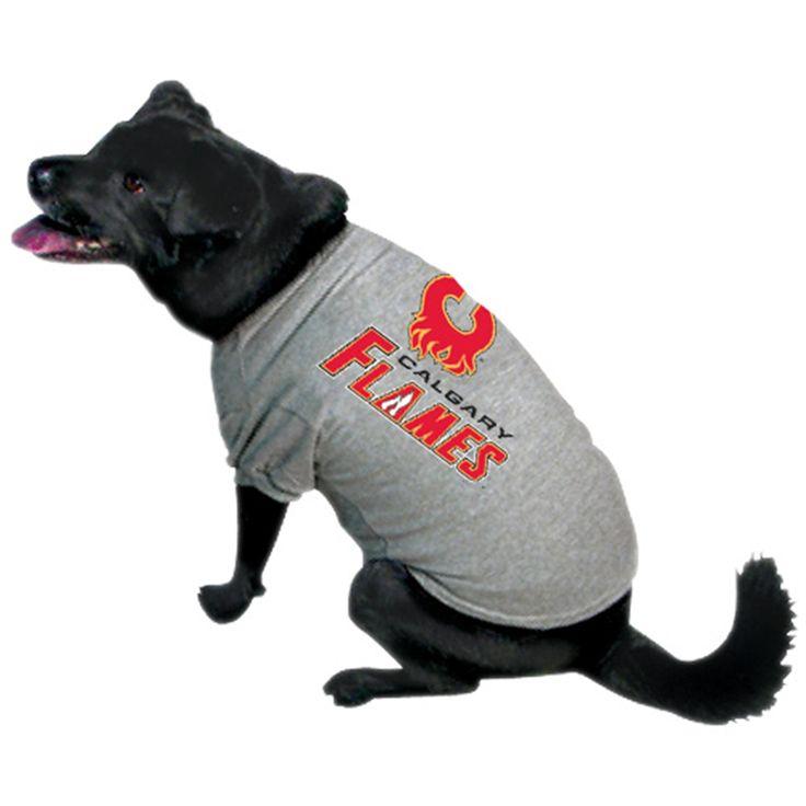 d6590f09f Calgary Flames Gray Dog T-shirt ...