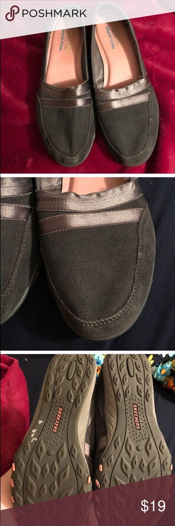 Size 7.5 grey Skechers memory foam grey shoes Size 7.5 grey Skechers memory foam grey shoes Skechers Shoes
