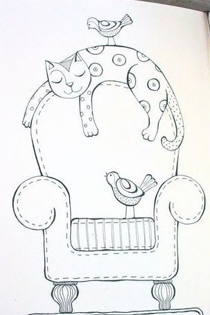Más de 33 patrones de bordado de moda para gatos