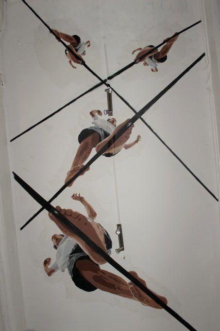 big ben street art - funambule A - festival l'original #13 « Top 2 Bottom » Lyon