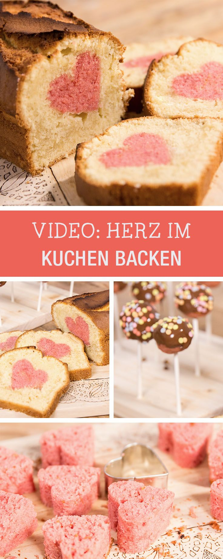 Rezept für den Valentinstag: Video-Anleitung für einen Kuchen mit integriertem Herz / baking tutorial for a pound cake with a heart inside via DaWanda.com