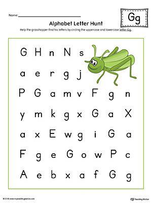 alphabet letter hunt letter g worksheet color preschool letter g worksheets preschool. Black Bedroom Furniture Sets. Home Design Ideas
