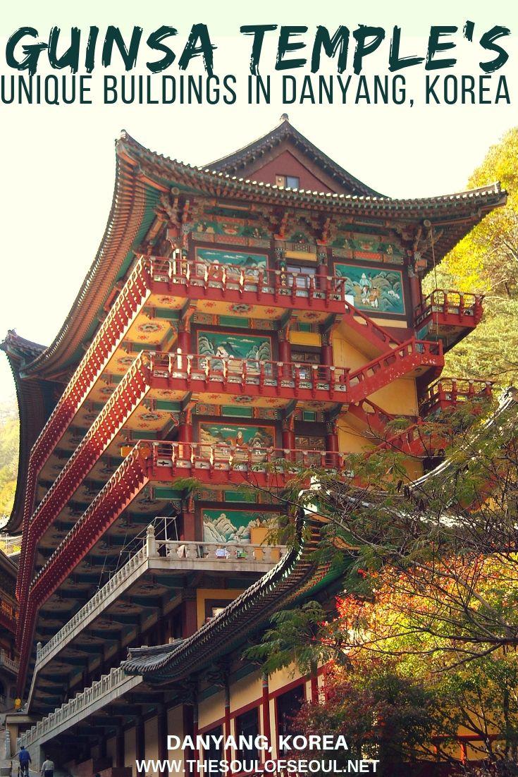 Guinsa Temple's Unique Buildings in Danyang, Korea