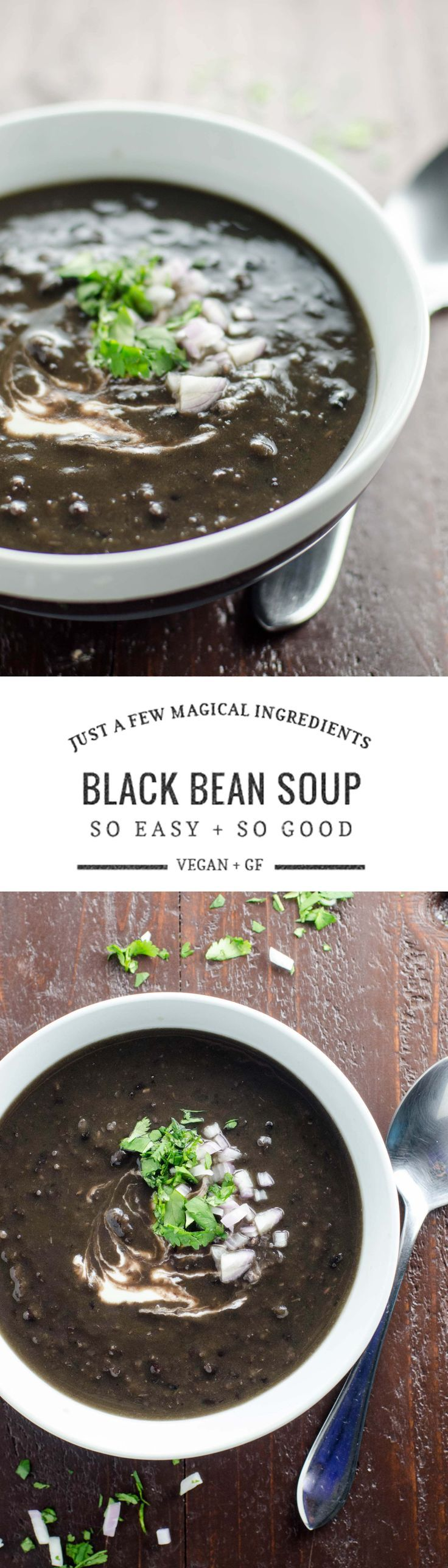 This absurdly simple, crazy-delicious vegan black bean soup recipe is like stone soup -- you'll wonder how it got so good.