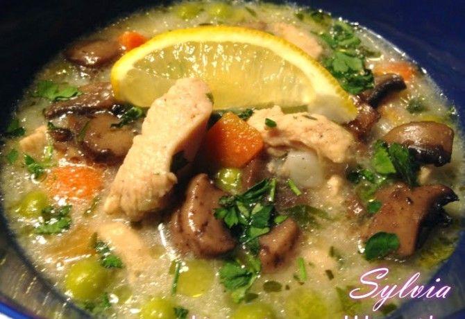 Tárkonyos csirkeragu leves Sylviától