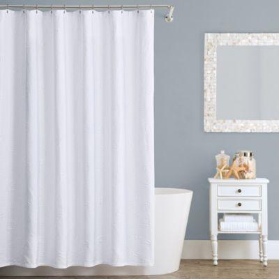 Seaspray Matelasse 72-Inch x 72-Inch Shower Curtain - BedBathandBeyond.com