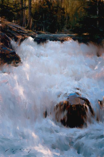 Jeremy Lipking.com. I can almost hear the gushing waters!