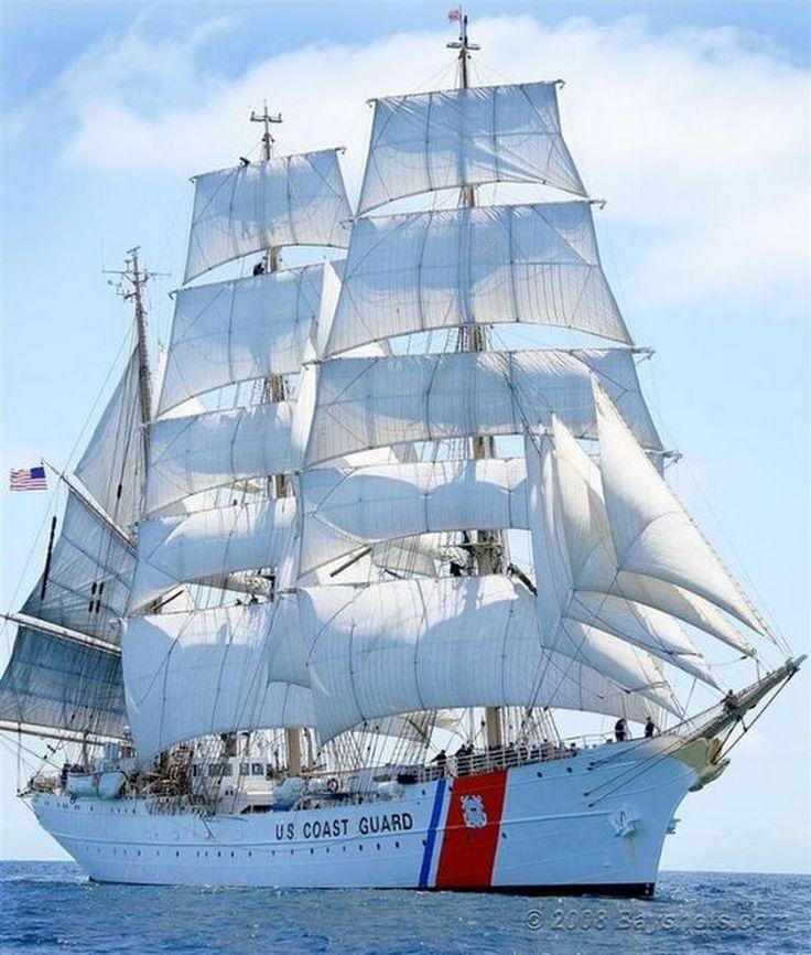 U.S. Coast Guard Cutter Eagle, Vessel Type - Barque; New London, CT... - Jenny Ioveva - Google+