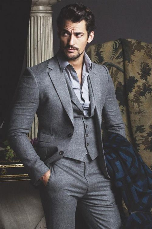 David Gandy suits up like a champ
