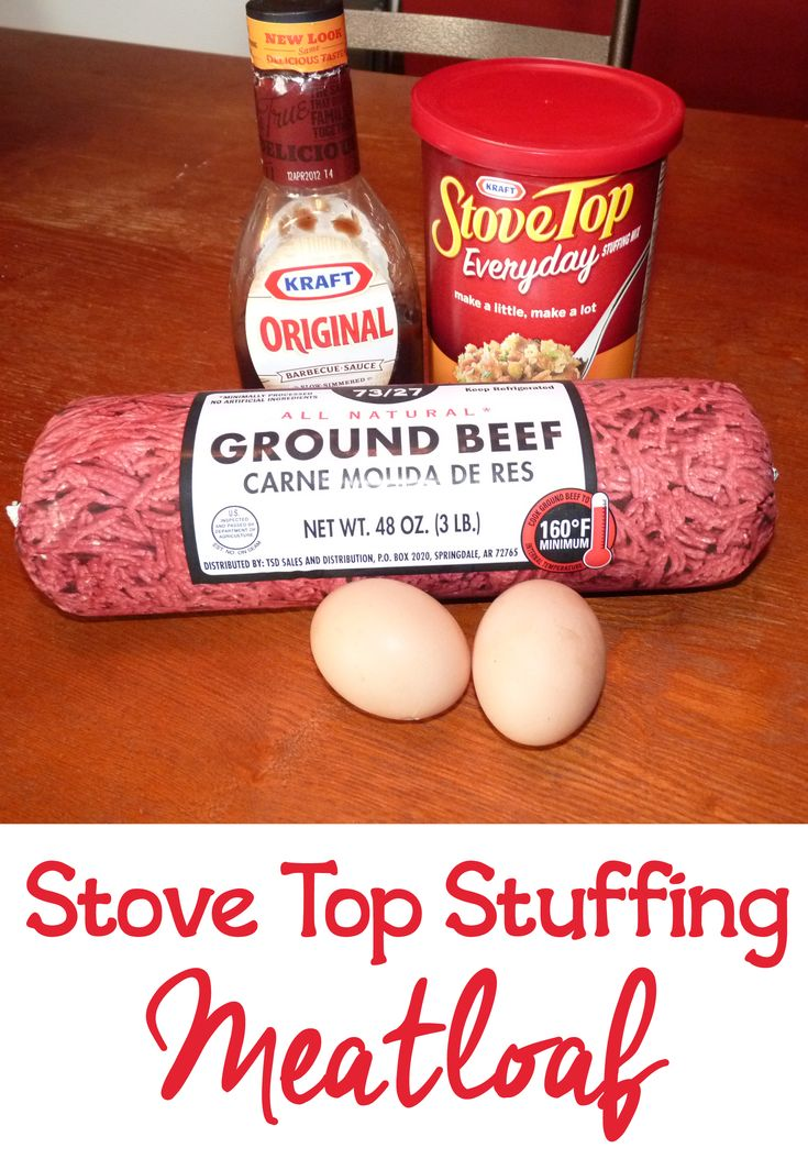 An easy meatloaf recipe using stove top stuffing meatloaf