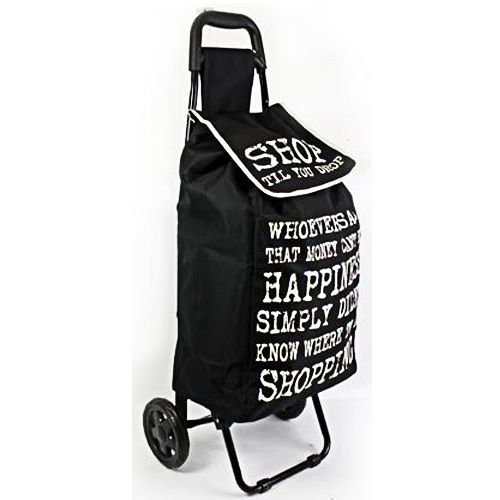 FOLDING SHOPPING TROLLEY WHEELED GROCERY CART BAG LUGGAGE WITH WHEELS LIGHT NEW