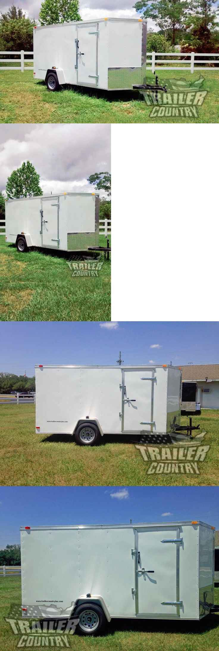 heavy equipment: New 2017 6 X 12 V-Nosed Enclosed Cargo Motorcycle Trailer W Ramp And Side Doors -> BUY IT NOW ONLY: $1775 on eBay!