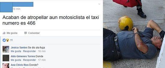 Denuncian en redes a motociclista atropellado por Taxi en Poza Rica - http://www.esnoticiaveracruz.com/denuncian-en-redes-a-motociclista-atropellado-por-taxi-en-poza-rica/