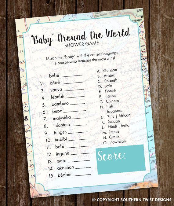 Travel Baby Shower Game  Baby Around the World by SouthernTwist1 – Danielle Wilson