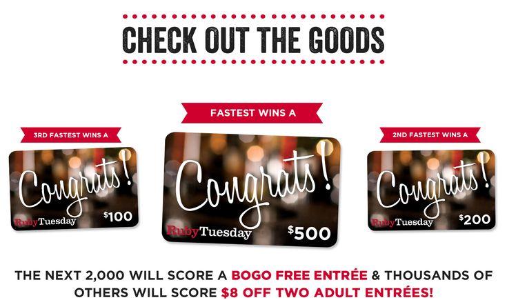 Ruby Tuesday is giving away thousands of rewards sometime soon including a $500 gift card! https://www.quikly.com/1445-rubytuesday/t/4vu5TAJ-lnk  #RubyTuesdayQuikly