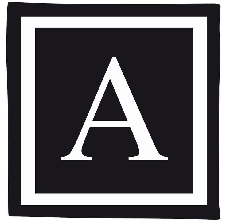 Monogram Cushions. Black & White design. All letters available now on our e-boutique