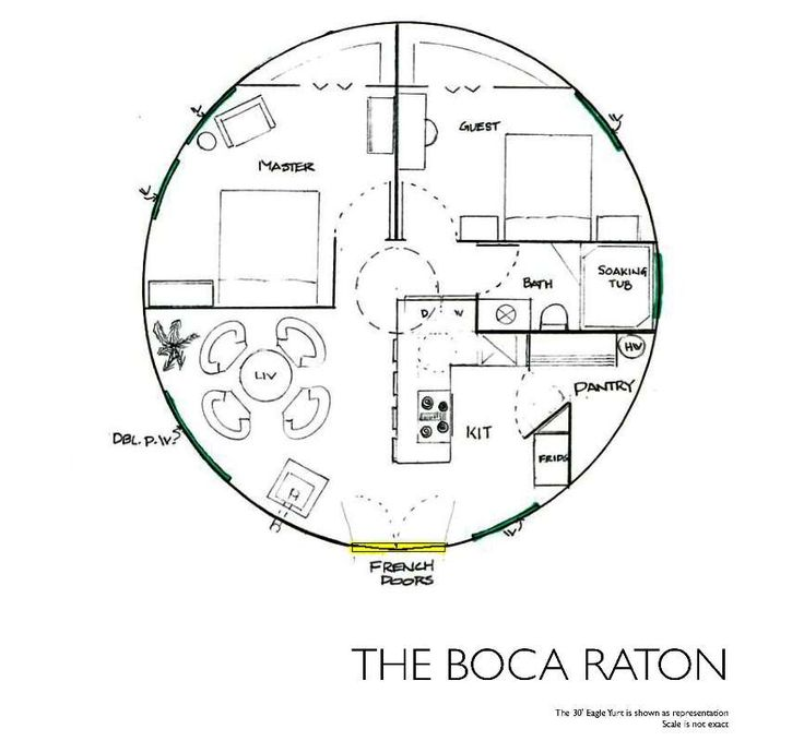 Floor Plans For Yurts: The Boca Raton Like The Hidden Pantry