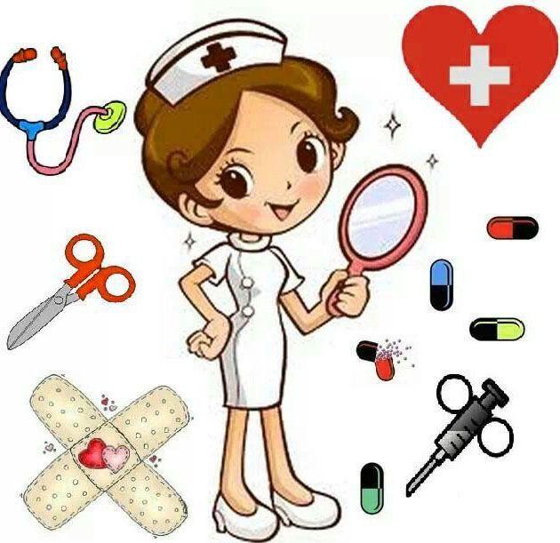 Enfermeras en tira de medias
