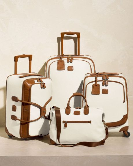 brics luggage white | Bric's Bojola 21 Rolling Duffel in White (CREAM)