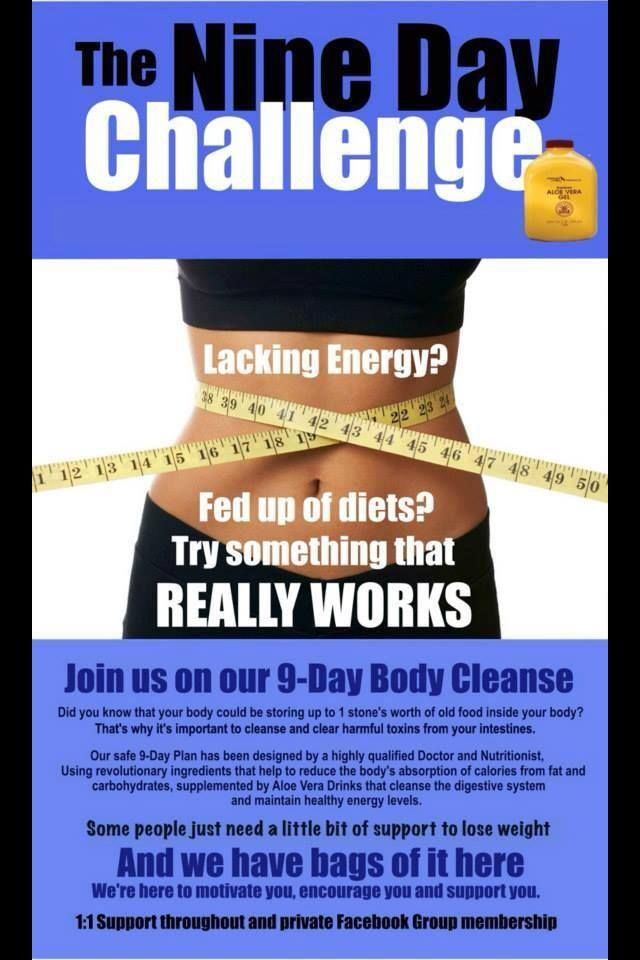 Join us for a #9 day #cleanse challenge - For details call me, Terry Villars, 0121 314 3979 / 07843 421021