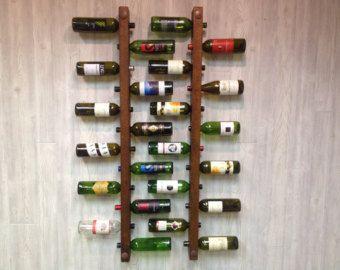 Wine Rack 16 Bottle Ladders  Set of 3 by VetrinaDelVino on Etsy