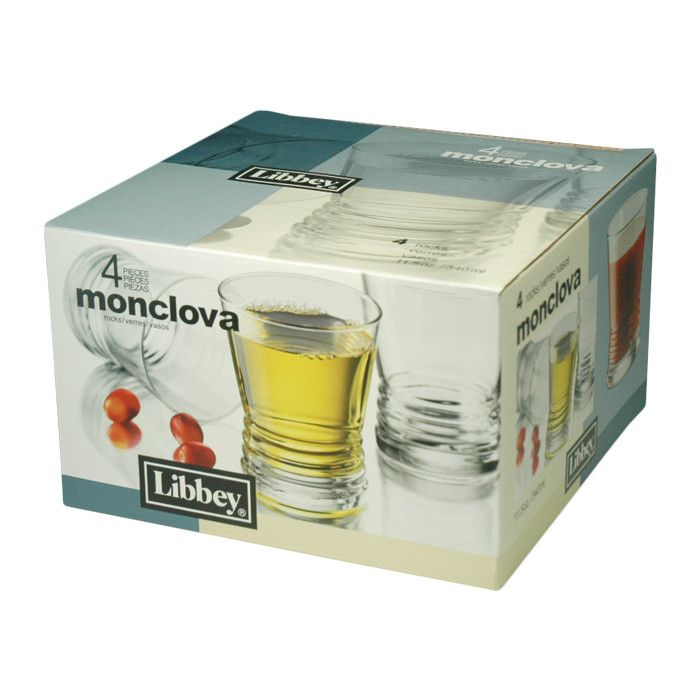 Libbey Monclova 4 piece Rocks Glass Set (89570)