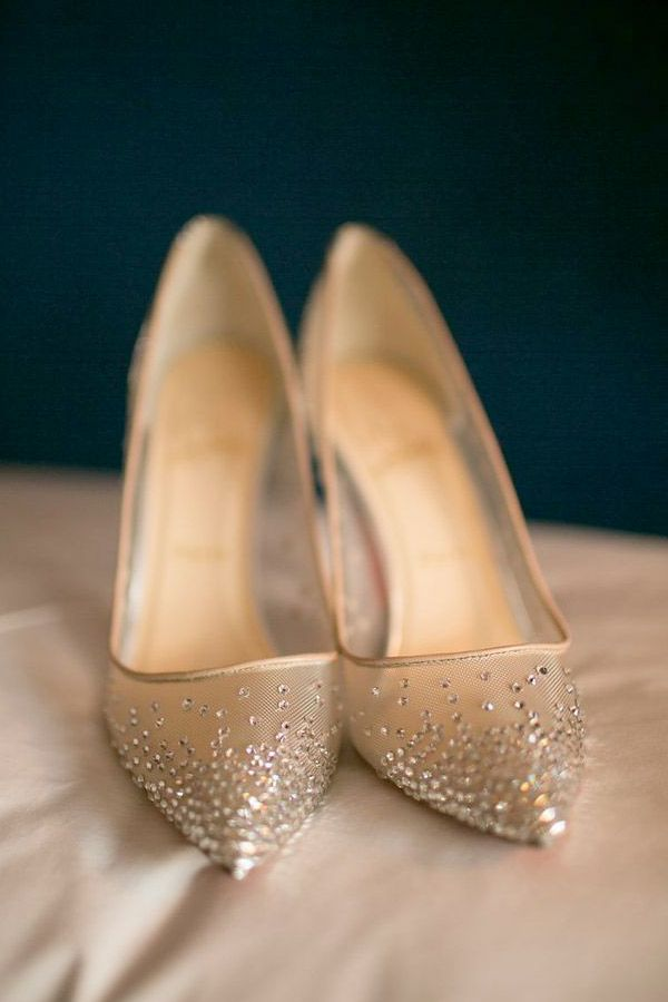 Diamante studded pumps | Brides Of Adelaide Magazine