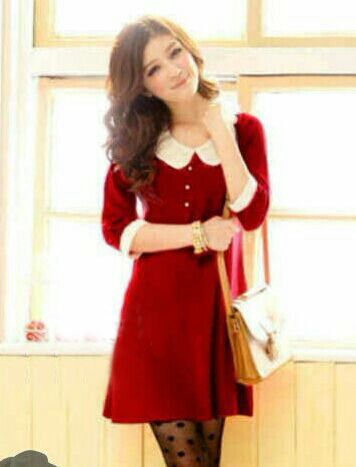 Mini Dress Korea Berbahan Rajut Halus - Emelia