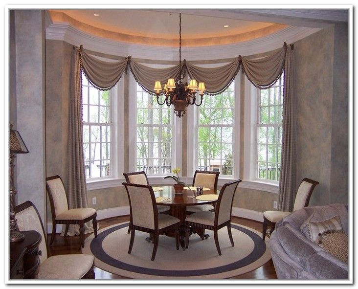 Creative dining room curtain designs | Window treatments ...