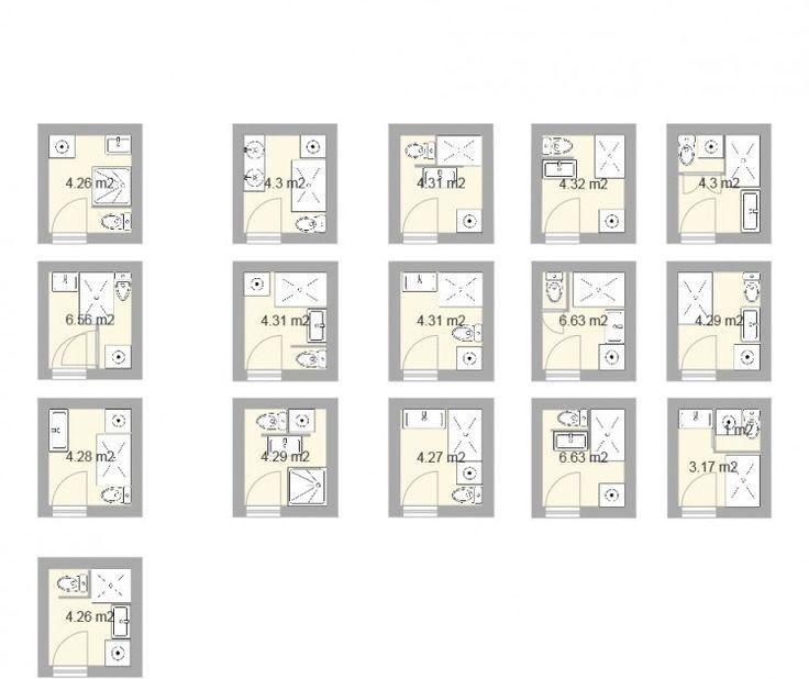 Préférence Les petites salles de bains (2 / 3 m²)   Studio, Small bathroom  PT44
