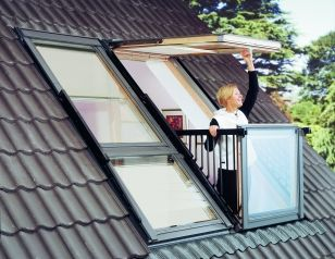 ROOF WINDOWS - CABRIO BALCONY SYSTEM...this would be an interesting addition to a tiny house roof.