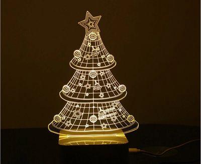 Top1   3D Christmas tree LED desk lamp