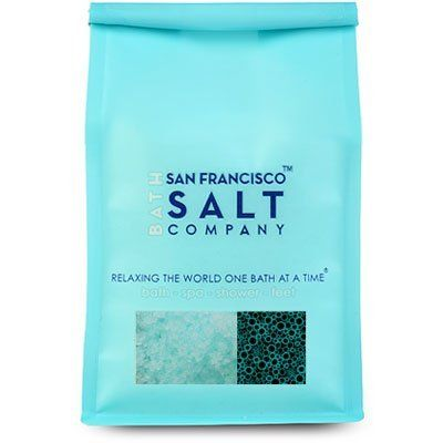 "Zen For Men - Foaming Bath Salts - 2 Lb Bag by San Francisco Bath Salt Company. $6.99. Made with fine/medium grain blend of Pacific Sea Salts. 2lb premium luxury retail bag with peek-a-boo window and aroma valve.. Foaming Bath Salts. Scented with our ""Zen for Men"" fragrance, a light musk scent (phthalate free). Perfect for a relaxing bath at the end of the day. Our Zen for Men Foaming Bath Salts are packaged in a 2 lb luxury bag. Salt Color: blue Grain Size: Fine/Medium blend"