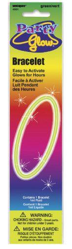 """Glow Bracelet Green 8"""""""