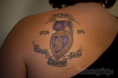 Purple heart tatoos purple heart memorial tattoo 5 for Vietnam tattoo ideas