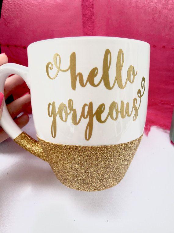 Hallo wunderschöne Glitter Becher  Kaffeebecher von WoodWorxDesigns