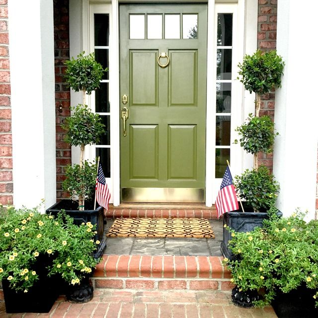 ode to a house and a new adventure green front doorsfront