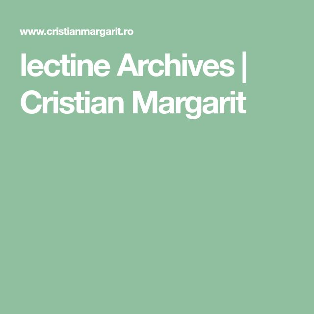 lectine Archives | Cristian Margarit
