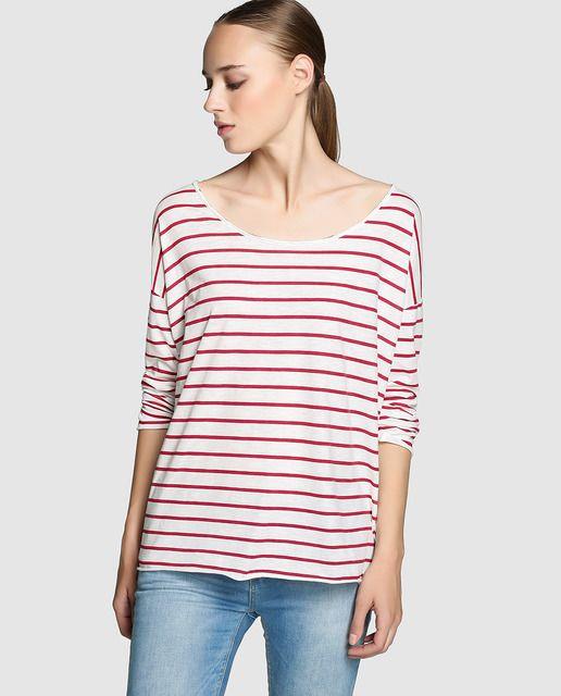 Camiseta de rayas con manga larga