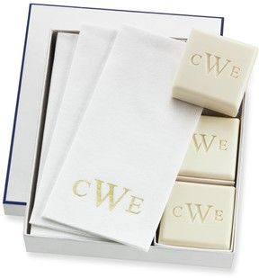 Williams-Sonoma Home Monogrammed Soap & Towel Gift Set on shopstyle.com