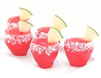I want to have a party just to try these!: Jello Shots, Margarita Jell O, Strawberries, Recipes, Margaritas, Strawberry Margarita