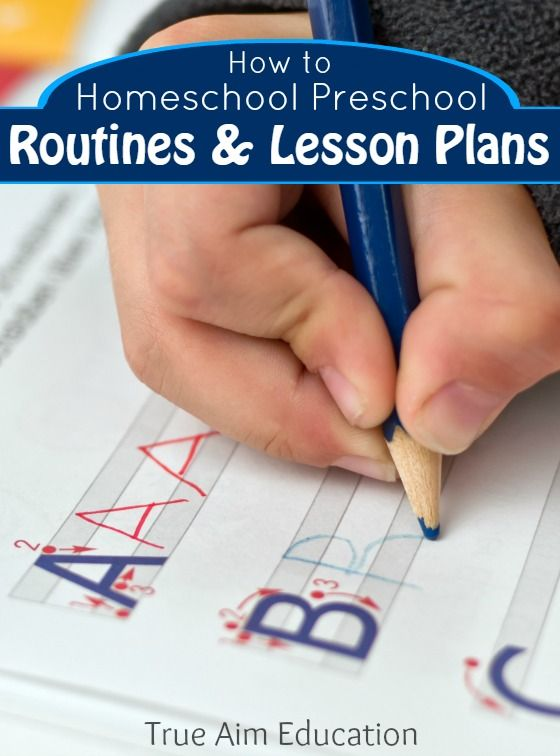 How to homeschool preschool : easy routines and lesson plans