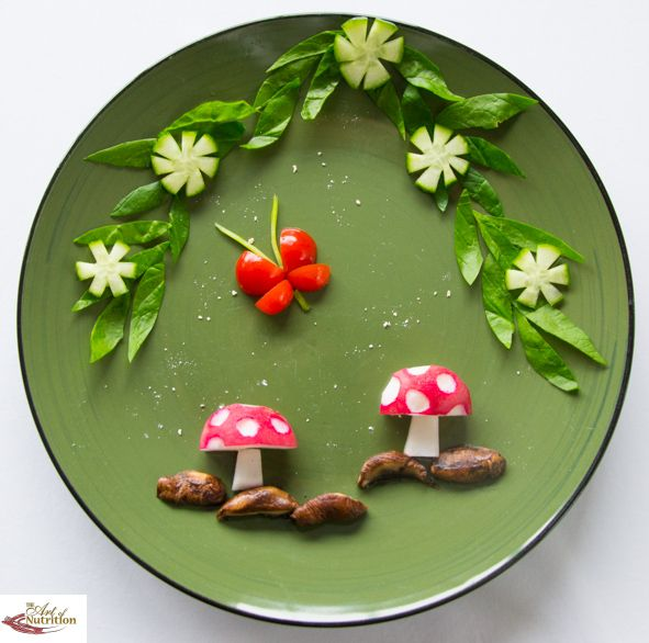 Fairy toadstools healthy snacks for kids