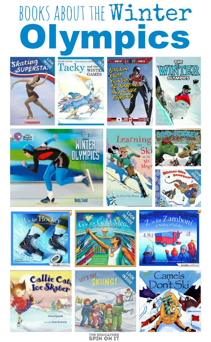 Books About the Winter Olympics for Kids from The Educators' Spin On It