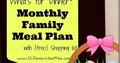 FREE April Meal Planner with lots of yummy and seasonal recipes as well as a printable weekly grocery list